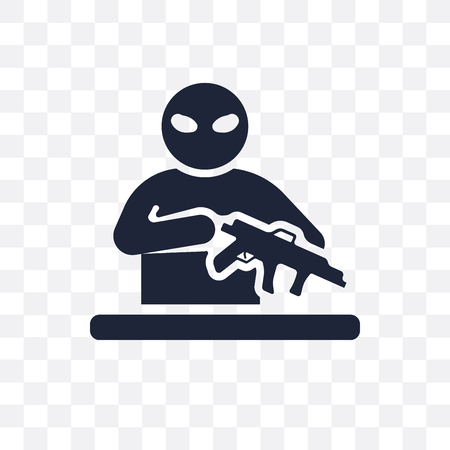 guerrilla transparent icon. guerrilla symbol design from Army collection. Illustration