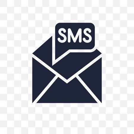 Sms transparent icon. Sms symbol design from Communication collection. Simple element vector illustration on transparent background.