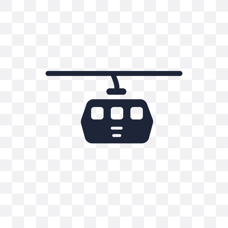 Cable car transparent icon. Cable car symbol design from Travel collection. Simple element vector illustration on transparent background.