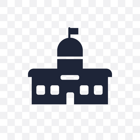 City hall transparent icon. City hall symbol design from Architecture collection. Simple element vector illustration on transparent background.