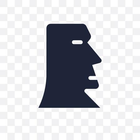 Moai transparent icon. Moai symbol design from Architecture collection. Simple element vector illustration on transparent background. Foto de archivo - 111422294