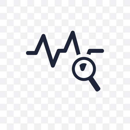Sine Waves Analysis transparent icon. Sine Waves Analysis symbol design from Analytics collection. Simple element vector illustration on transparent background.