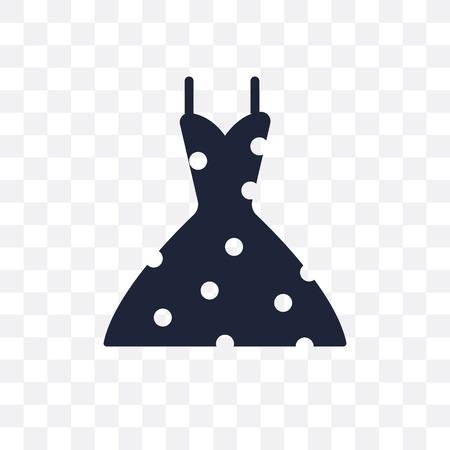 vintage dress transparent icon. vintage dress symbol design from Clothes collection. Simple element vector illustration on transparent background.