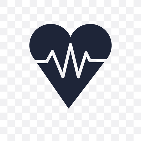 fitness Heart transparent icon. fitness Heart symbol design from Gym and fitness collection. Simple element vector illustration on transparent background.