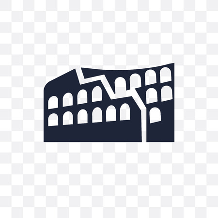 Colosseum transparent icon. Colosseum symbol design from Architecture collection. Simple element vector illustration on transparent background.