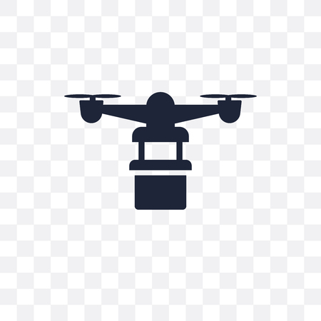 Hover aeroplane transparent icon. Hover aeroplane symbol design from Future technology collection.