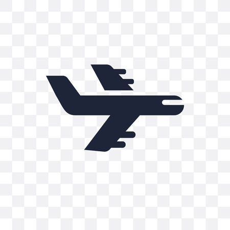 Flight transparent icon. Flight symbol design from Travel collection. Simple element vector illustration on transparent background. Çizim