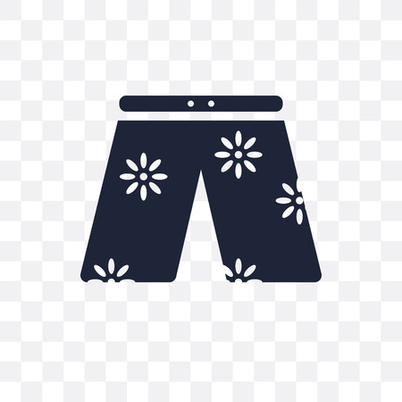 swim shorts transparent icon. swim shorts symbol design from Clothes collection. Simple element vector illustration on transparent background.