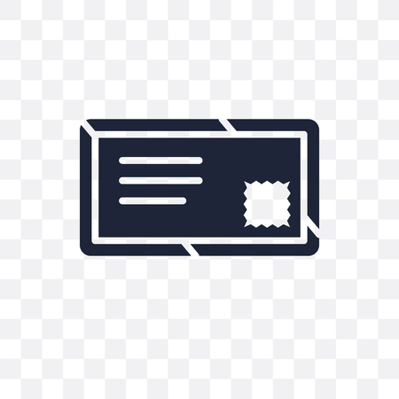 Air mail transparent icon. Air mail symbol design from Delivery and logistic collection. Illustration