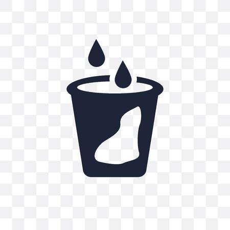 Liquid drop transparent icon. Liquid symbol design from Cleaning collection. Simple element vector illustration on transparent background. Illustration