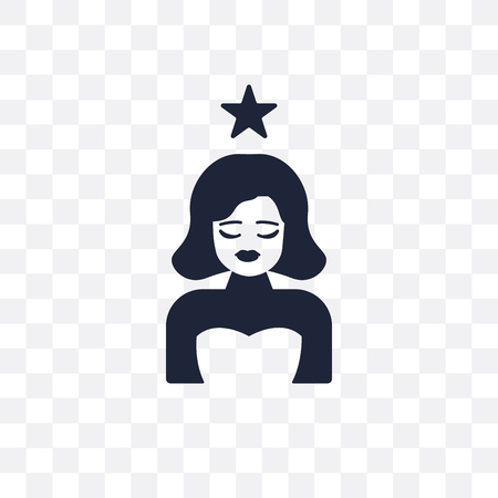 actress transparent icon. actress symbol design from Cinema collection. Simple element vector illustration on transparent background.