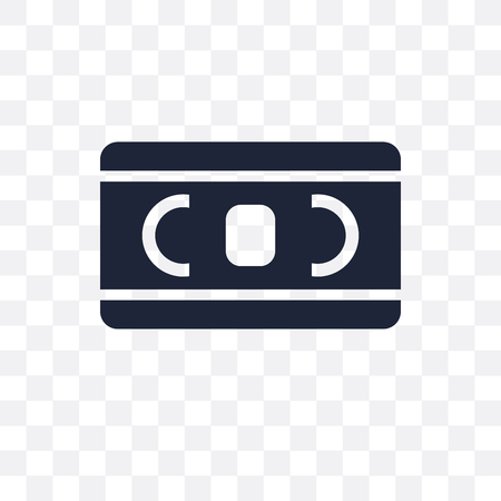 Vhs transparent icon. Vhs symbol design from Cinema collection. Simple element illustration on transparent background. Illustration