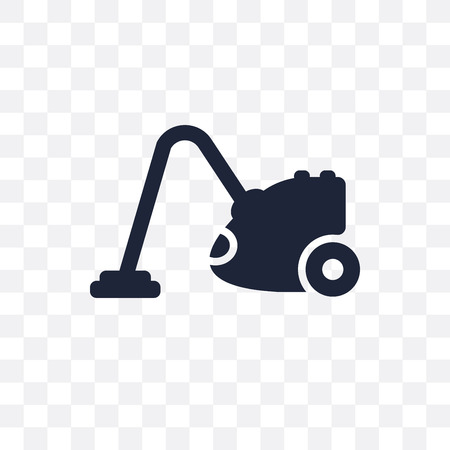 Vacuum cleaner transparent icon and symbol design from Cleaning collection. Simple element vector illustration on transparent background.  イラスト・ベクター素材