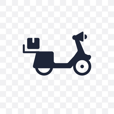 scooter delivery transparent icon. scooter delivery symbol design from Delivery and logistic collection.