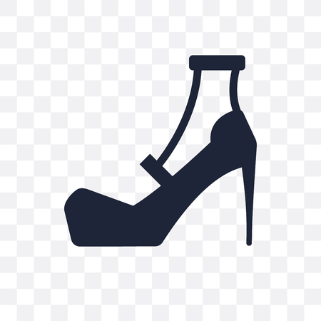 High heel transparent icon. High heel symbol design from Clothes collection. Simple element vector illustration on transparent background.