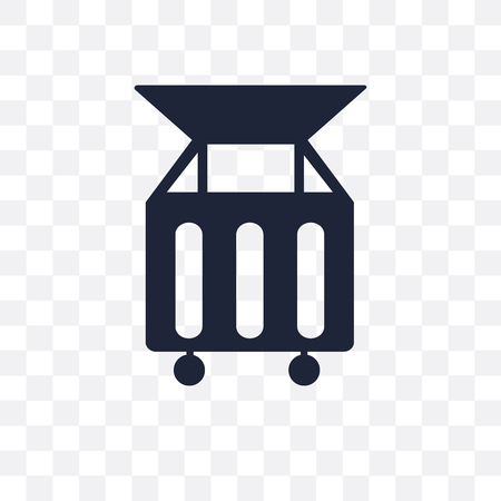 Dumpster transparent icon. Dumpster symbol design from Cleaning collection. Simple element vector illustration on transparent background.