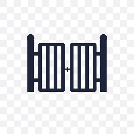 Gate transparent icon. Gate symbol design from Architecture collection. Simple element vector illustration on transparent background.