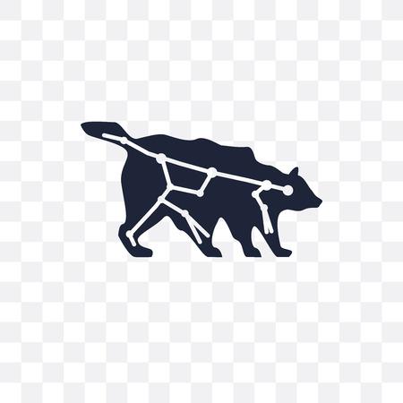 Ursa major transparent icon. Ursa major symbol design from Astronomy collection.