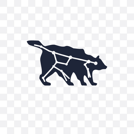 Ursa major transparent icon. Ursa major symbol design from Astronomy collection.