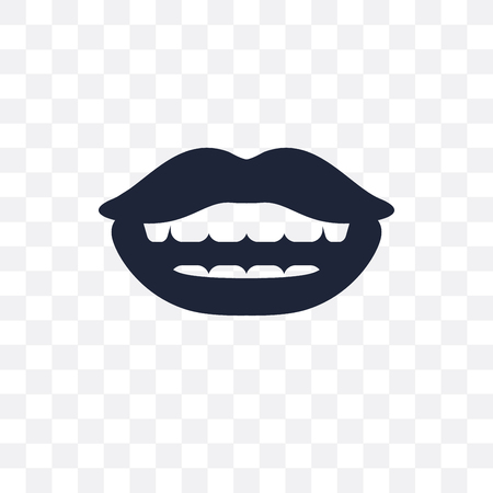 Lips transparent icon. Lips symbol design from Dentist collection. Simple element vector illustration on transparent background. Standard-Bild - 115369628