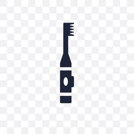 Electric toothbrush transparent icon. Electric toothbrush symbol design from Dentist collection. Simple element vector illustration on transparent background.  イラスト・ベクター素材