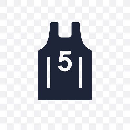 Basketball jersey transparent icon. Basketball jersey symbol design from Clothes collection. Simple element vector illustration on transparent background.