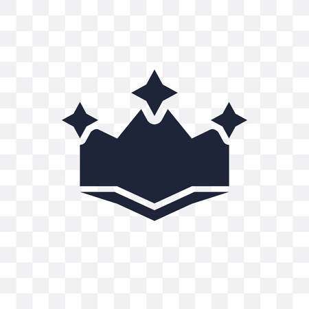 Crown transparent icon and symbol design