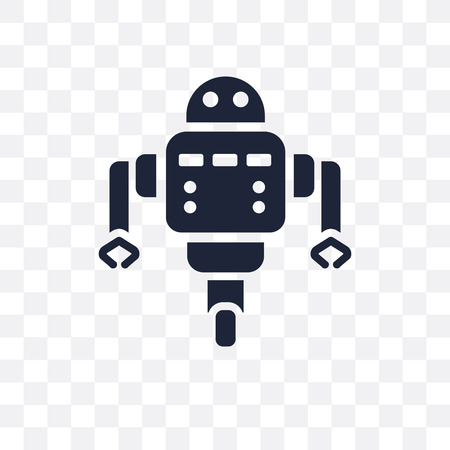 Robot assistant transparent icon. Robot assistant symbol design from Artificial Intellegence collection. Çizim