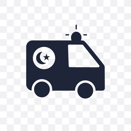Ambulance transparent icon and symbol design from Hospital collection. Simple element vector illustration on transparent background. Illustration