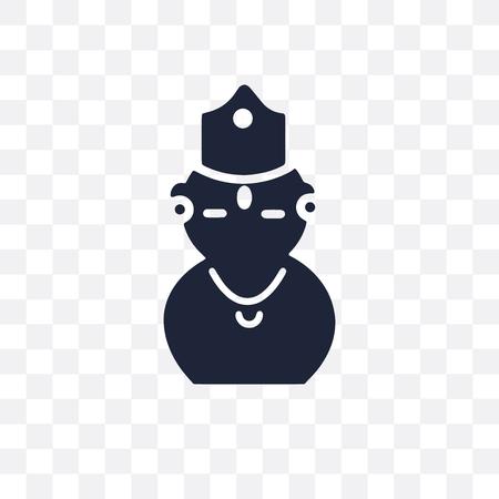 Kartikeya transparent icon. Kartikeya symbol design from India collection. Simple element vector illustration on transparent background.