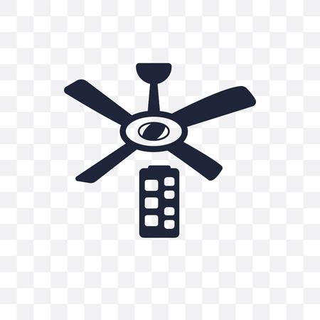icona trasparente ventilatore da soffitto. disegno di simbolo di ventilatore da soffitto da collezione di dispositivi elettronici.