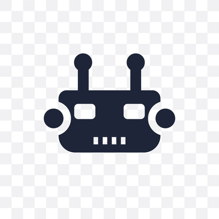 Bot transparent icon. Bot symbol design from Internet security collection. Simple element vector illustration on transparent background. Иллюстрация
