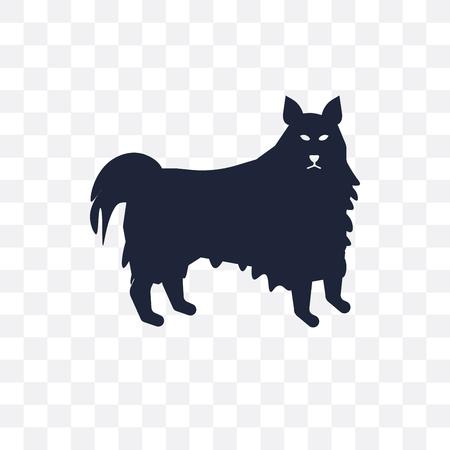 American Eskimo Dog dog transparent icon. American Eskimo Dog dog symbol design from Dogs collection. Simple element vector illustration on transparent background.