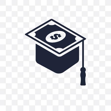 scholarship transparent icon. scholarship symbol design from Education collection. Stock Illustratie