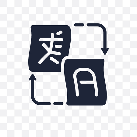 Translation transparent icon. Translation symbol design from Online learning collection.