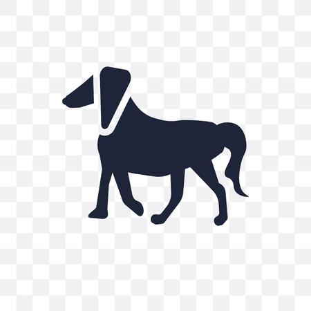 Irish Setter dog transparent icon. Irish Setter dog symbol design from Dogs collection. Simple element vector illustration on transparent background.