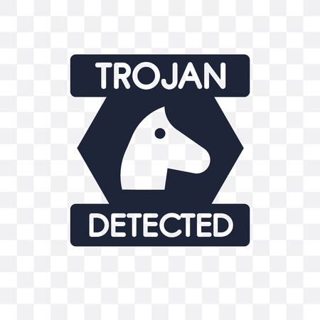 Trojan transparent icon. Trojan symbol design from Internet security collection. Simple element vector illustration on transparent background.
