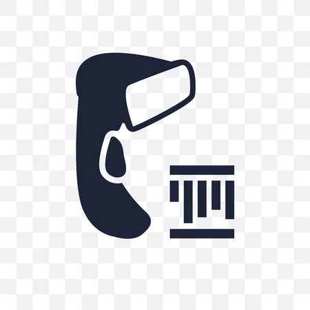 Barcode scanner transparent icon. Barcode scanner symbol design from Electronic devices collection. Illustration