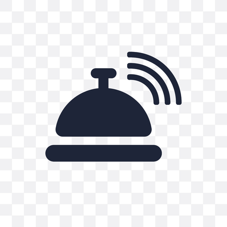 Reception bell transparent icon and simple element for business. vector illustration on transparent background. 矢量图像