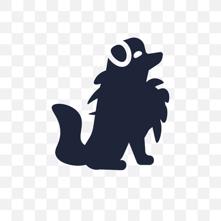 Pomeranian dog transparent icon. Pomeranian dog symbol design from Dogs collection. Simple element vector illustration on transparent background.