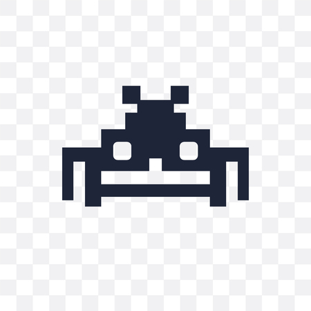 spaceship transparent icon and symbol design from Arcade collection. Vector Illustration