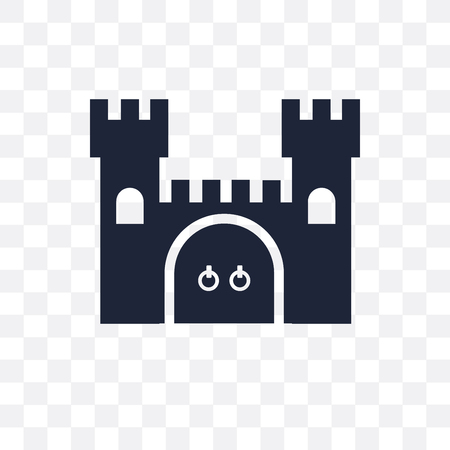 Castle transparent icon and symbol design from Fairy tale collection. Simple element vector illustration on transparent background.