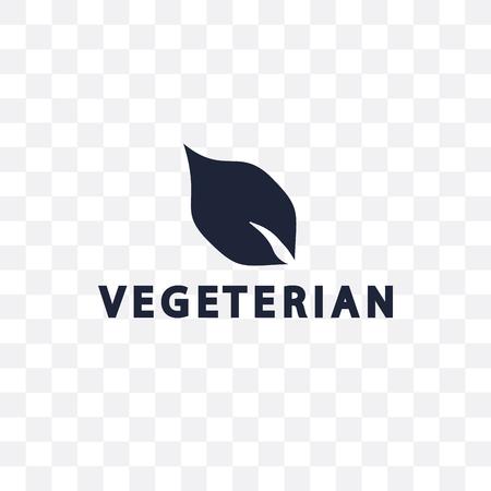 Vegetarian transparent icon. Vegetarian symbol design from Restaurant collection. Simple element vector illustration on transparent background. Иллюстрация