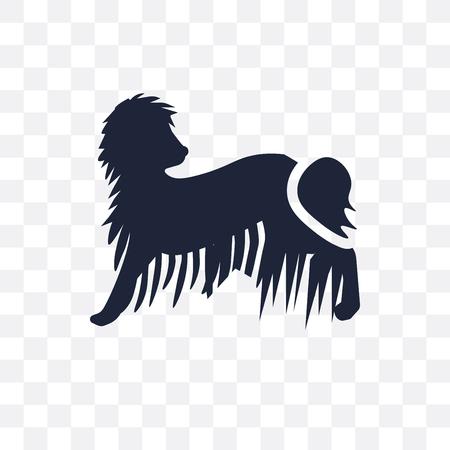 Komondor dog transparent icon. Komondor dog symbol design from Dogs collection. Simple element vector illustration on transparent background. Stock Illustratie