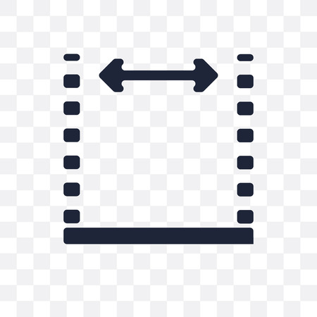 Icône transparente de dimensions. Conception de symboles de dimensions de la collection Geometry. Illustration vectorielle élément simple sur fond transparent. Vecteurs