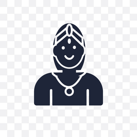 Chandra transparent icon. Chandra symbol design from India collection. Simple element vector illustration on transparent background.