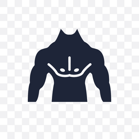 Men Chest transparent icon. Men Chest symbol design from Human Body Parts collection.