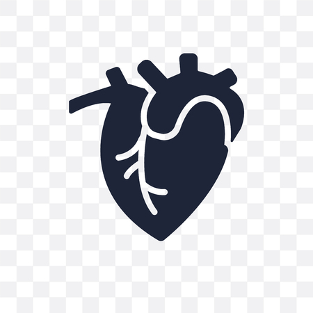 Human Heart transparent icon. Human Heart symbol design from Human Body Parts collection.