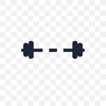 Weight bar transparent icon. Weight bar symbol design from Gym and fitness collection. Simple element vector illustration on transparent background.