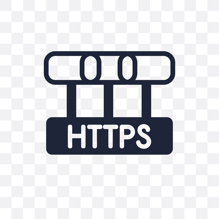 Https transparent icon. Https symbol design from Internet security collection. Simple element vector illustration on transparent background.